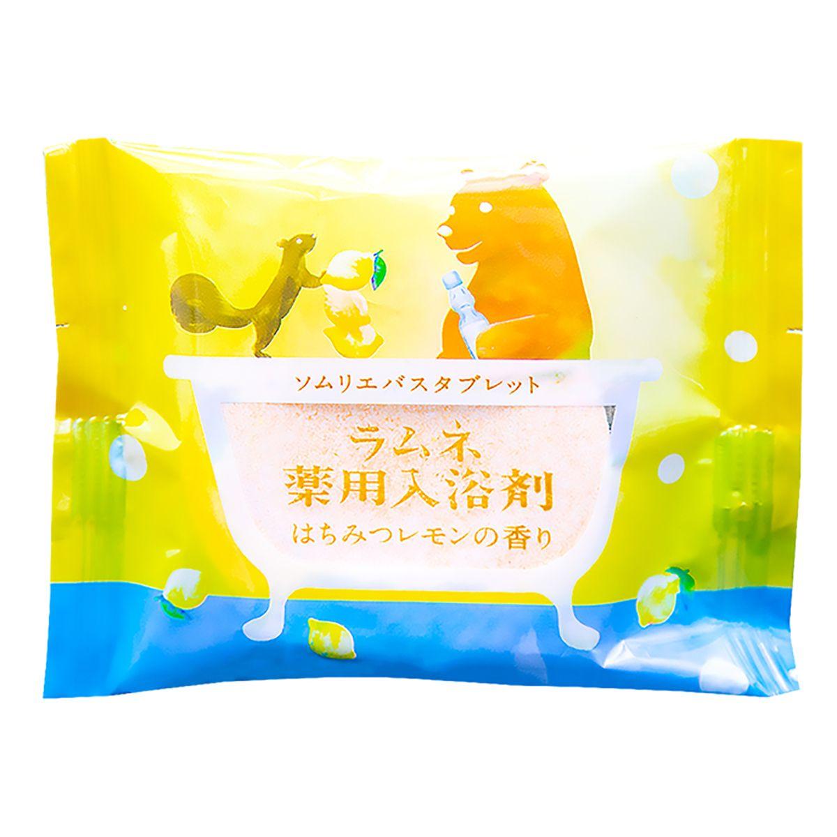 Фото Расслабляющая соль-таблетка для ванны с ароматом меда и лимона - 40 гр.