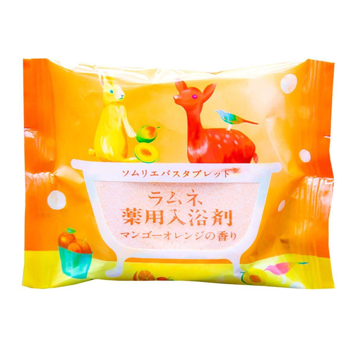 Фото Расслабляющая соль-таблетка для ванны с ароматом манго и апельсина - 40 гр.