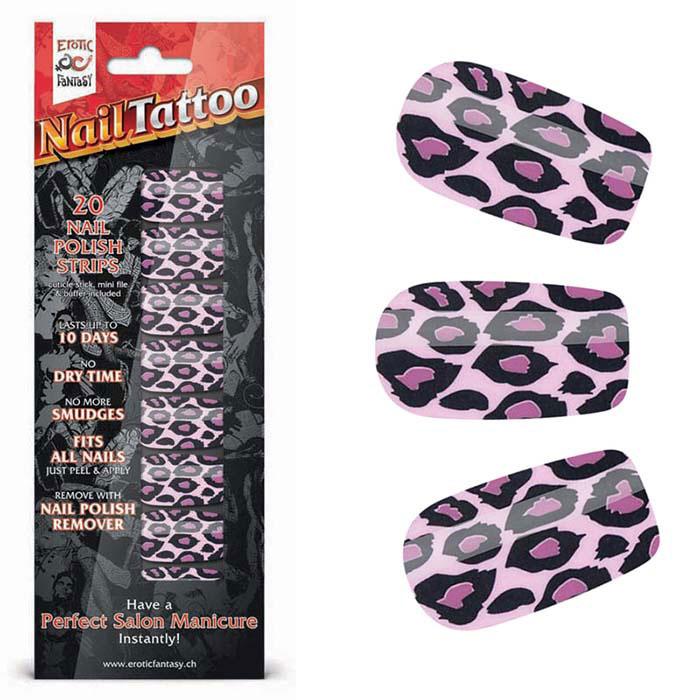 Фото Набор лаковых полосок для ногтей Фиолетовый леопард Nail Foil