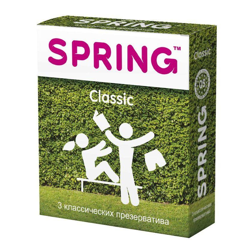 Фото Классические презервативы SPRING CLASSIC - 3 шт.