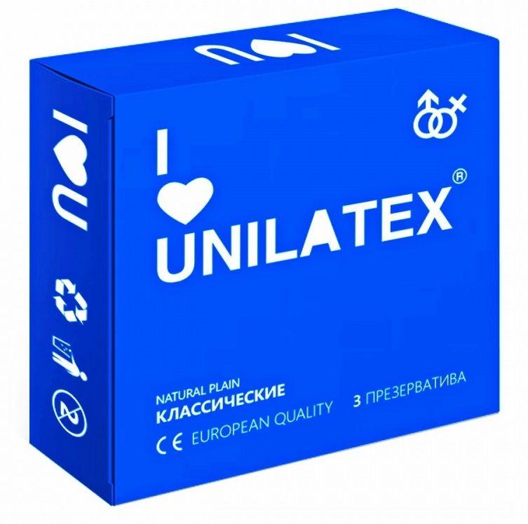 Фото Классические презервативы Unilatex Natural Plain - 3 шт.