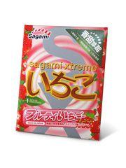 Фото Презерватив Sagami Xtreme Strawberry c ароматом клубники - 1 шт.