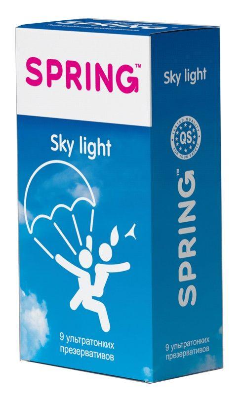 Фото Ультратонкие презервативы SPRING SKY LIGHT - 9 шт.