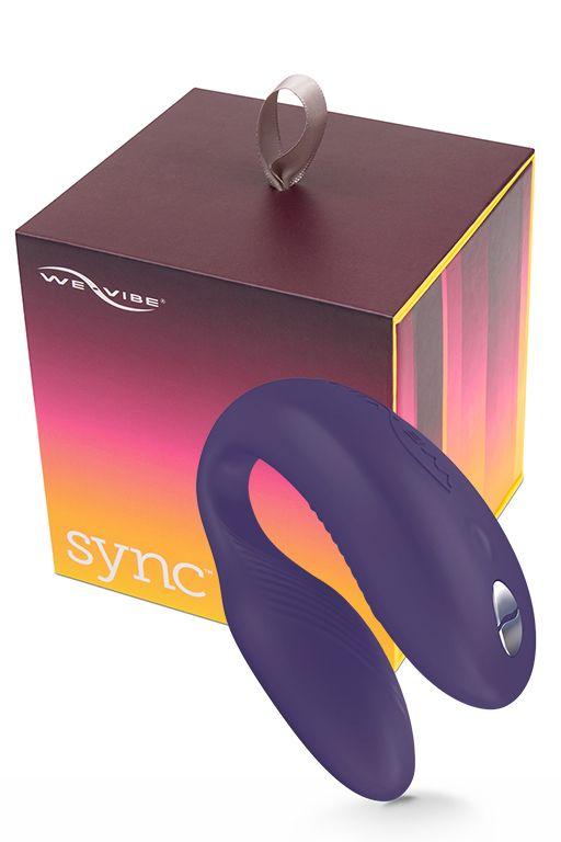 Фото Фиолетовый вибромассажер для пар We-Vibe Sync Purple на радиоуправлении