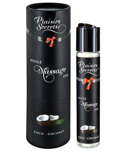 Фото Массажное масло с ароматом кокоса Huile de Massage Gourmande Coco - 59 мл.