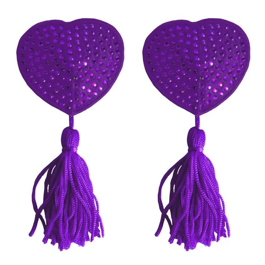Фото Фиолетовые пестисы-сердечки Tassels Heart
