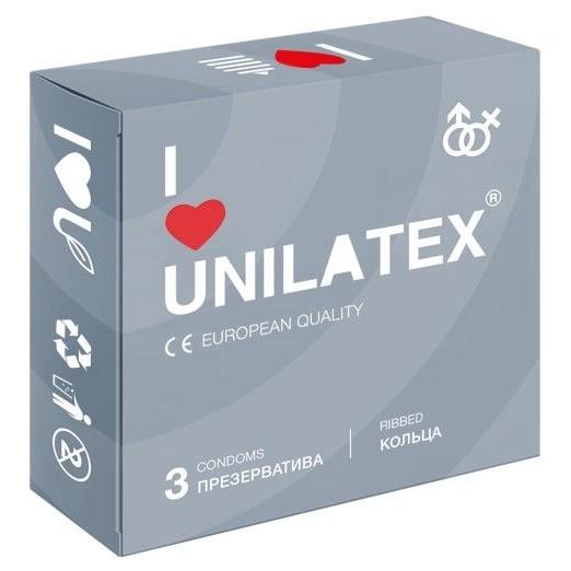 Фото Презервативы с рёбрами Unilatex Ribbed - 3 шт.