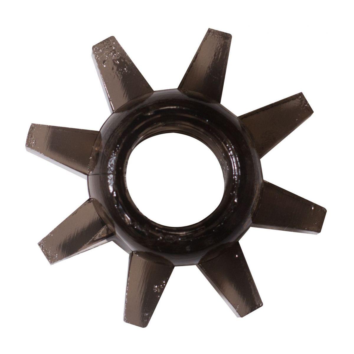 Фото Чёрное эрекционное кольцо Rings Cogweel