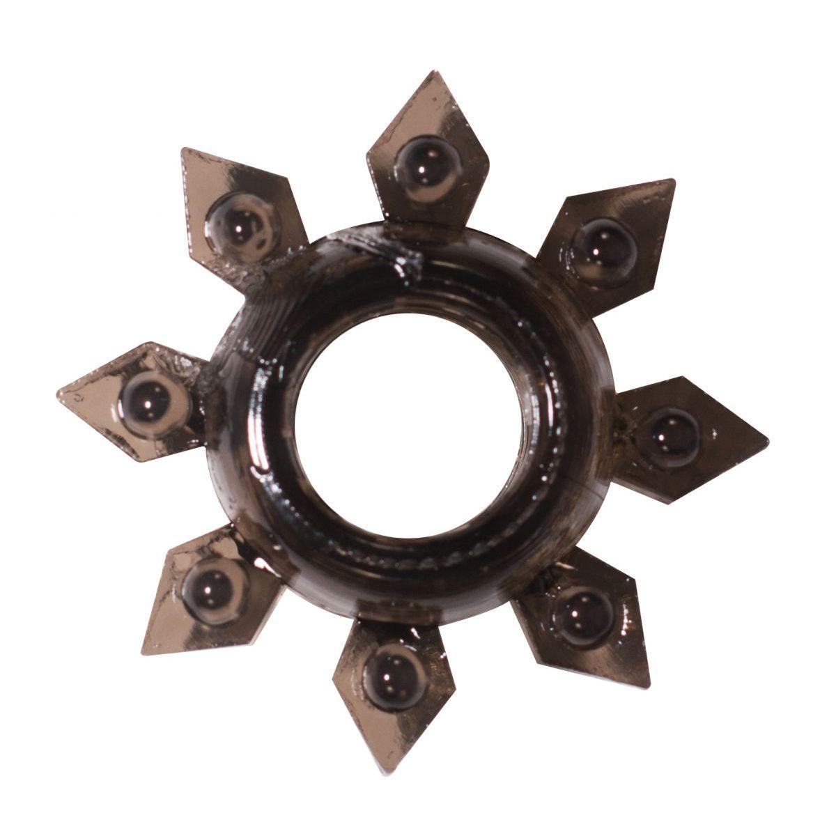 Фото Чёрное эрекционное кольцо Rings Gear