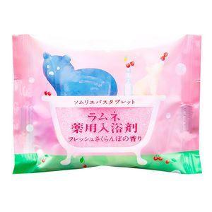 Расслабляющая соль-таблетка для ванны с ароматом цветущей сакуры - 40 гр.