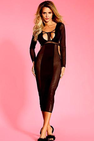 Длинное сексуальное платье для ношения без трусиков