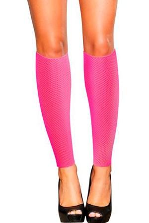 Сетчатые розовые гетры со шнуровкой