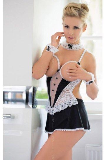 Униформа лучшей служанки: сорочка с открытой грудью и повязки