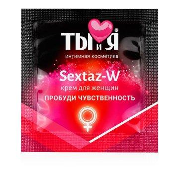 Возбуждающий крем для женщин Sextaz-W в одноразовой упаковке - 1,5 гр.