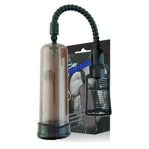 Дымчатая помпа-массажер с удобным рычагом для откачки воздуха