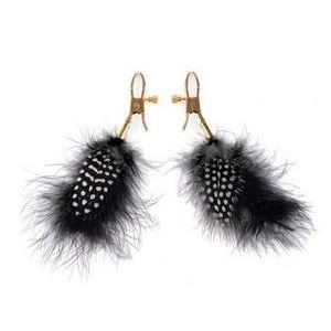 Зажимы на соски с пёрышками Feather Nipple Clamps