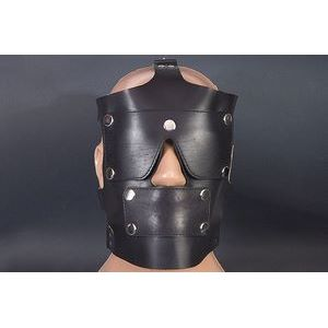 Чёрная кожаная маска  РАБоСЕКС