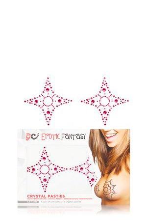 Розовые пэстисы из кристаллов Pink Star