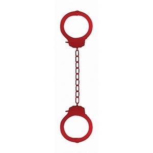 Красные оковы на ноги Pleasure Legcuffs