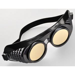 Чёрная латексная маска  Крюгер  с золотистыми окошками