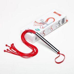 Красная латексная плеть с шариками - 50 см.