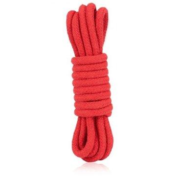 Красная хлопковая веревка для связывания - 3 м.