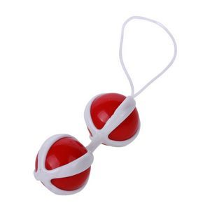 Красно-белые вагинальные шарики BE MINI BALLS
