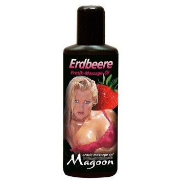 Массажное масло Magoon Strawberry - 100 мл.
