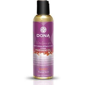 Массажное масло с феромонами DONA Sassy Tropical Tease - 125 мл.