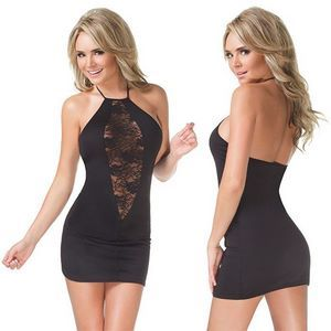 Облегающее платье с кружевной вставкой