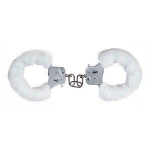 Меховые белые наручники