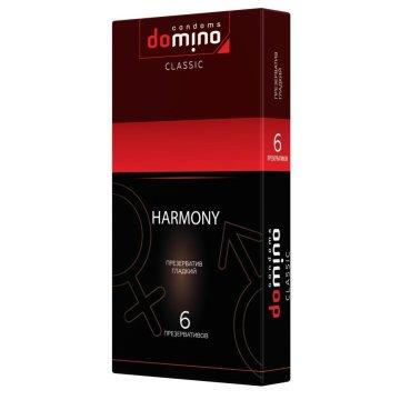 Гладкие презервативы Domino Harmony - 6 шт.