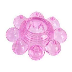 Розовое гелевое эрекционное кольцо-цветок