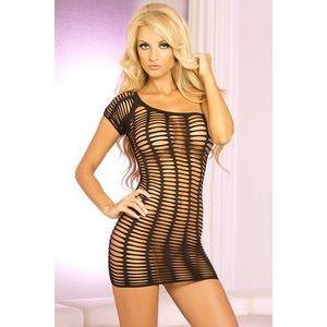 Сетчатое платьице с одним коротким рукавчиком FUTURE SHOCK ONE SHOULDER DRESS