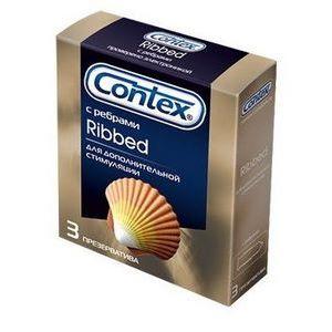 Презервативы с рёбрышками CONTEX Ribbed - 3 шт.