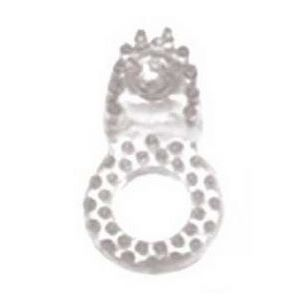 Прозрачное эрекционное кольцо со стимулятором клитора