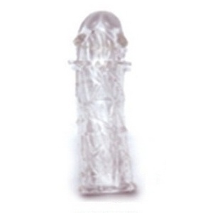 Насадка на фаллос с закрытой головкой и усиками для стимуляции