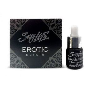 Эфирное масло-афродизиак с феромонами Sexy Life Erotic Elixir унисекс - 5 мл.