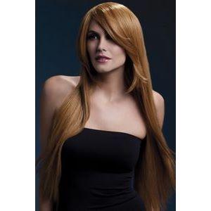 Рыжеватый парик с косой чёлкой Amber