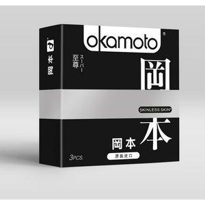 Презервативы OKAMOTO Skinless Skin Super ассорти - 3 шт.