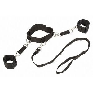 Ошейник с наручниками Bondage Collection Collar and Wristbands One Size