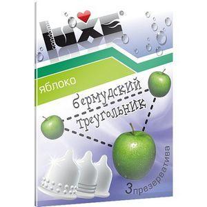 Презервативы Luxe  Бермудский треугольник  с ароматом яблока - 3 шт.