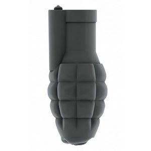 Серый мастурбатор-граната с вибрацией Stroker No.22