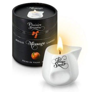 Массажная свеча с ароматом персика Bougie Massage Gourmande Peche - 80 мл.