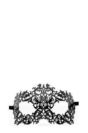 Чёрная металлическая маска Forrest Queen Masquerade
