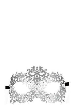 Серебристая металлическая маска Forrest Queen Masquerade