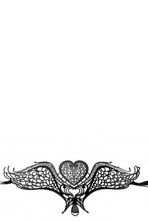 Чёрная металлическая карнавальная маска Swan Masquerade Mask