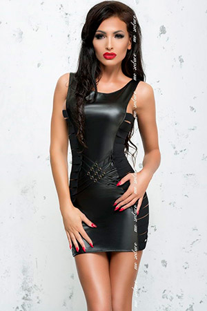 Облегающее платье Lea с эффектом мокрого блеска