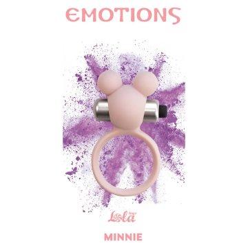 Розовое эрекционное виброколечко Emotions Minnie Light pink