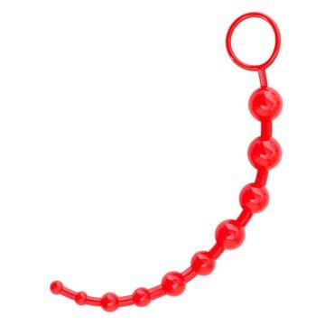 Красная анальная цепочка - 25 см.